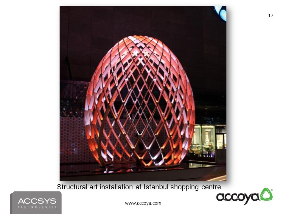 Structural art installation at Istanbul shopping centre