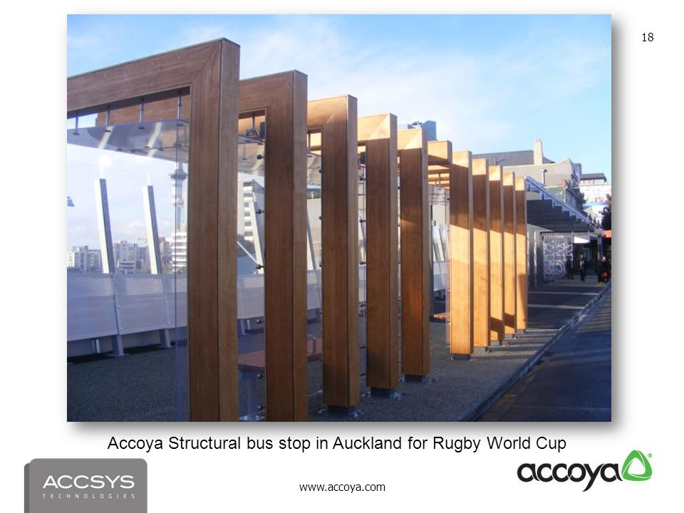 Accoya Structural bus stop in Auckland for Rugby World Cup