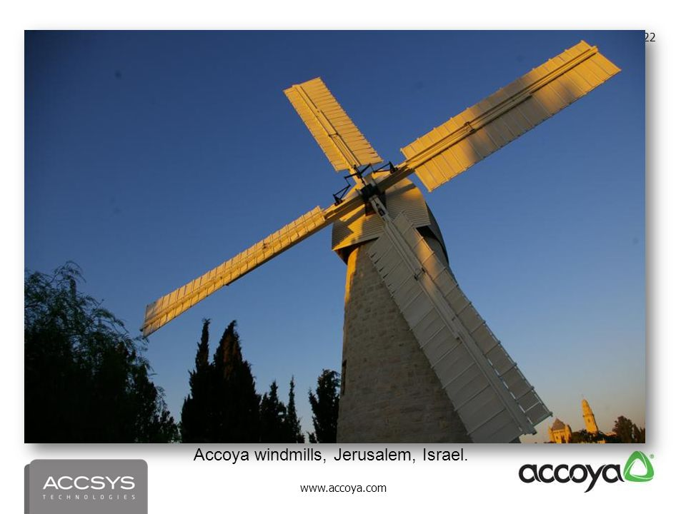 Accoya windmills, Jerusalem, Israel.