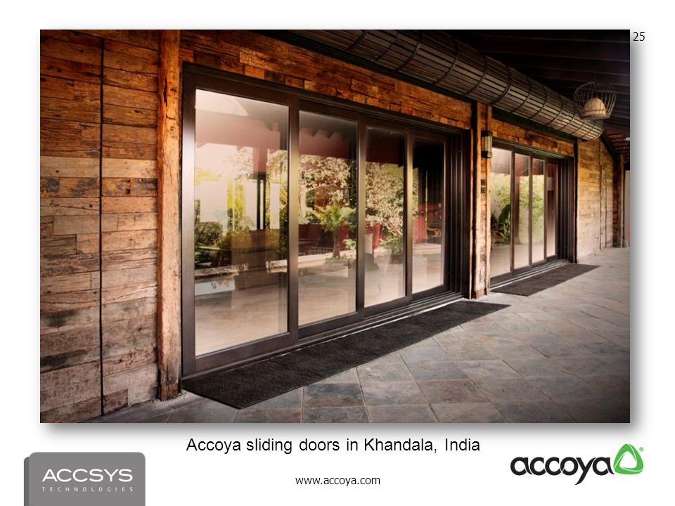 Accoya sliding doors in Khandala, India