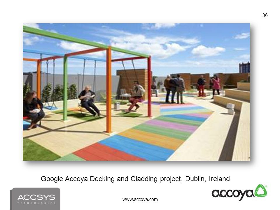 Google Accoya Decking and Cladding project, Dublin, Ireland