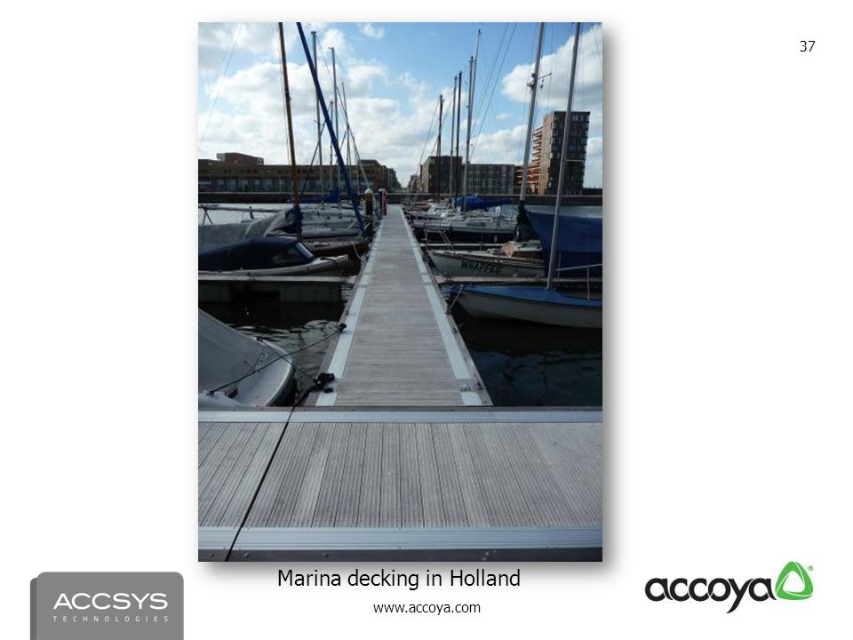 Marina decking in Holland