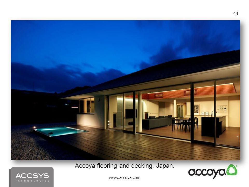 Accoya flooring and decking, Japan.