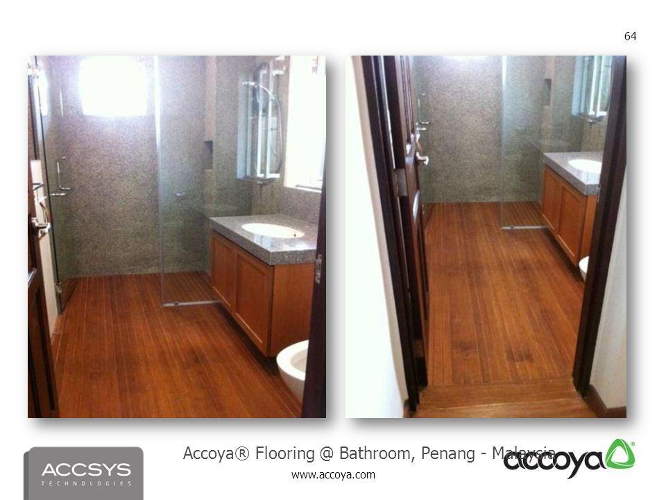 Accoya® Flooring @ Bathroom, Penang - Malaysia