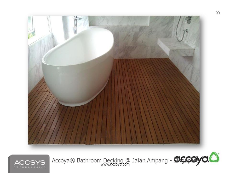 Accoya® Bathroom Decking @ Jalan Ampang - Singapore