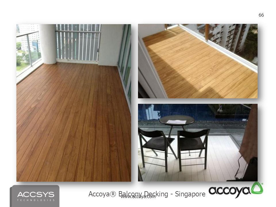 Accoya® Balcony Decking - Singapore