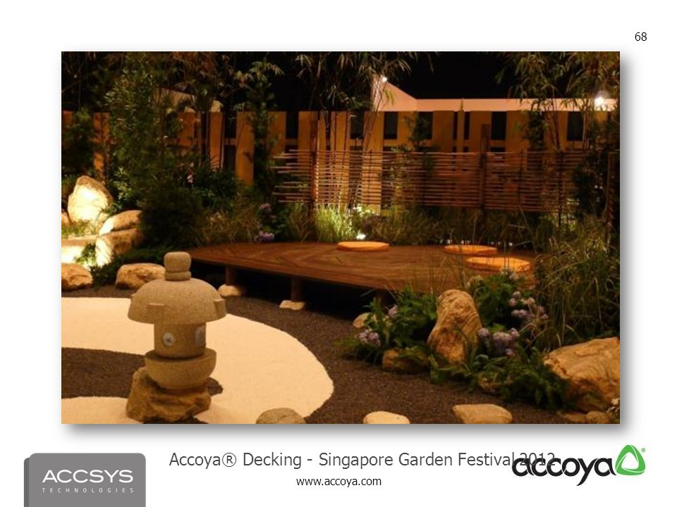 Accoya® Decking - Singapore Garden Festival 2012