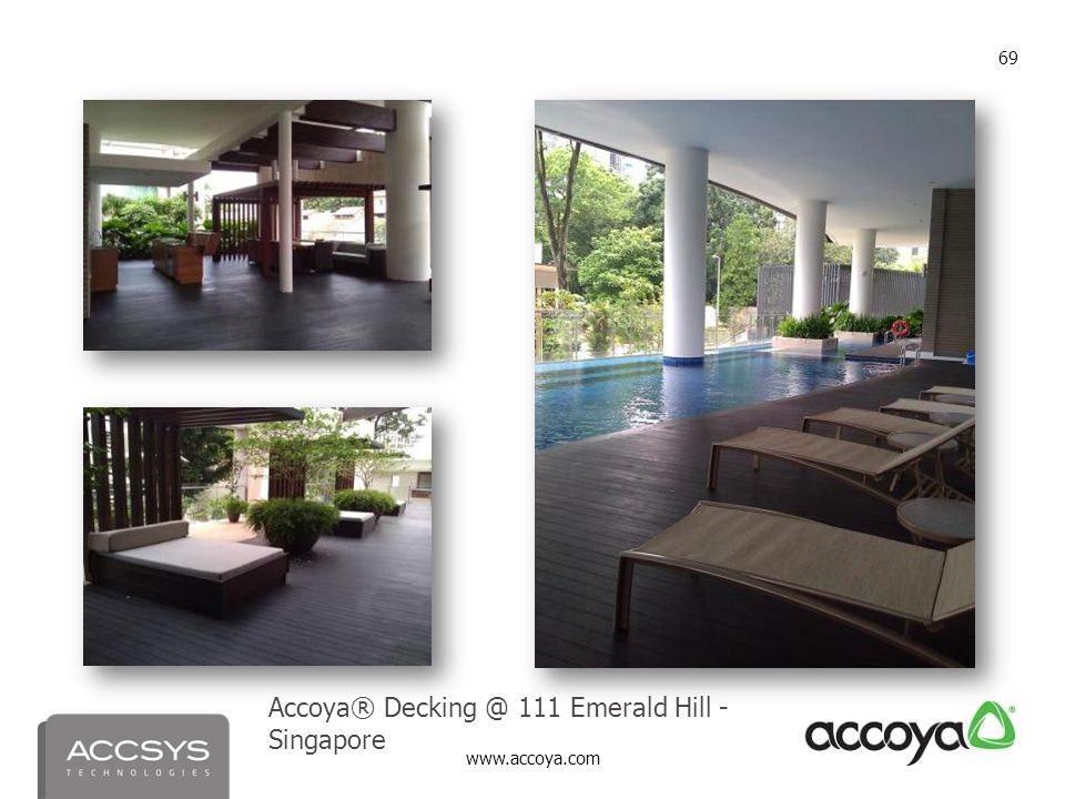 Accoya® Decking @ 111 Emerald Hill - Singapore