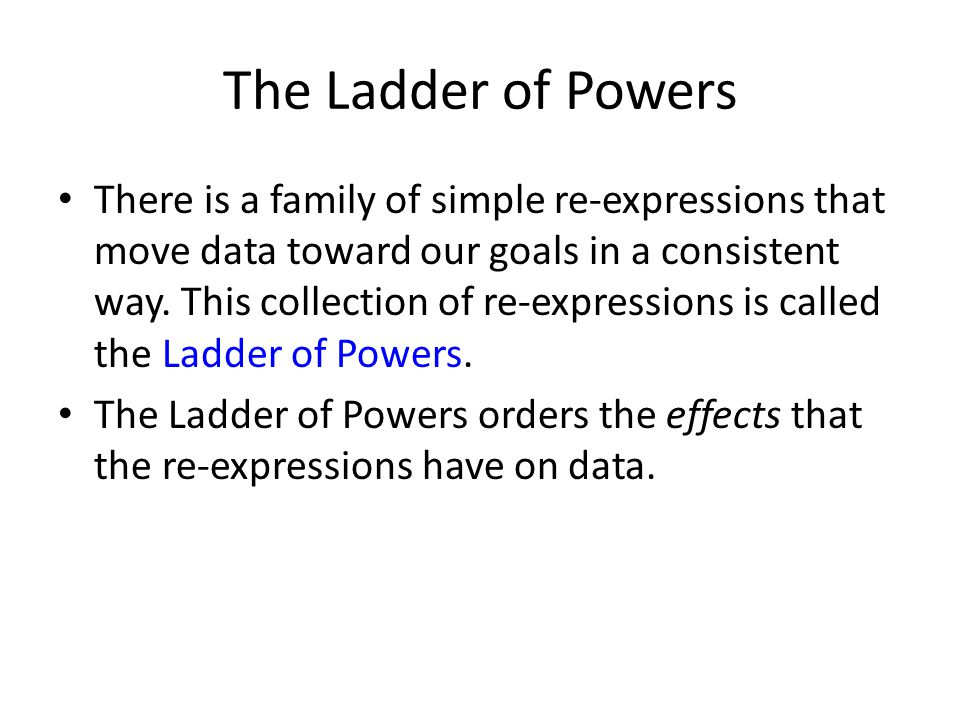 The Ladder of Powers