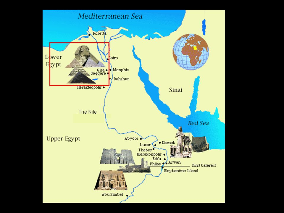 Map of Ancient Egypt & the Nile