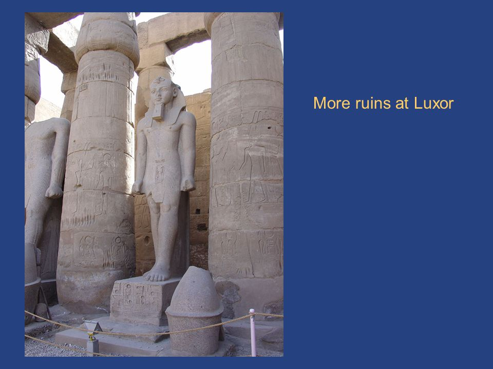 More Luxor ruins More ruins at Luxor