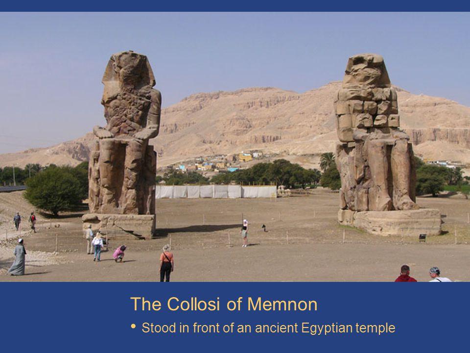 Colossi at Hemnon The Collosi of Memnon