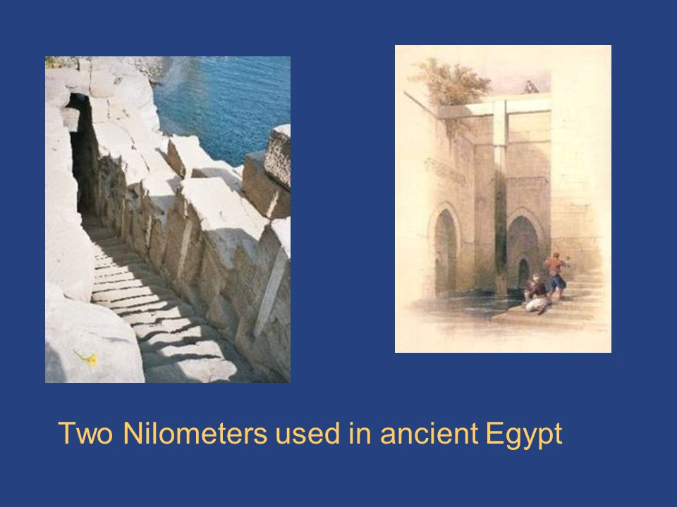 Two Nilometers used in ancient Egypt