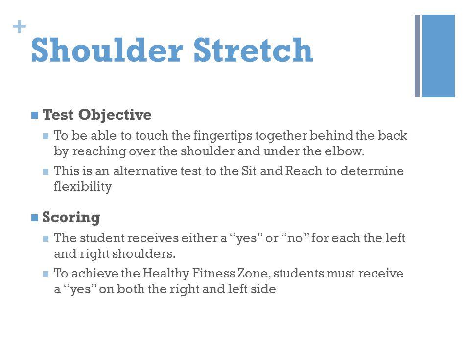 Shoulder Stretch Test Objective Scoring