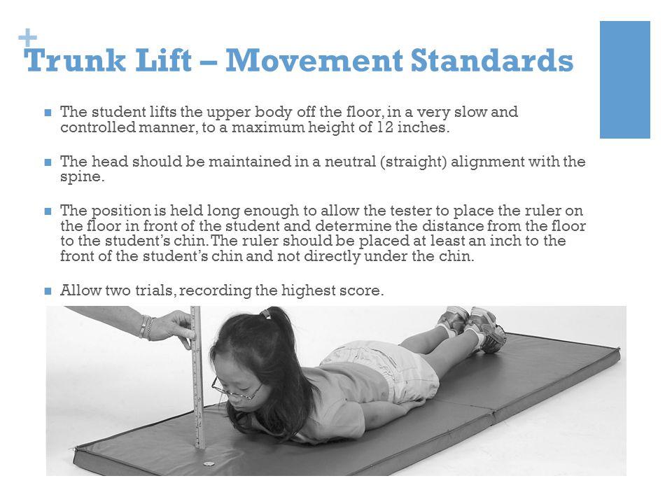 Trunk Lift – Movement Standards