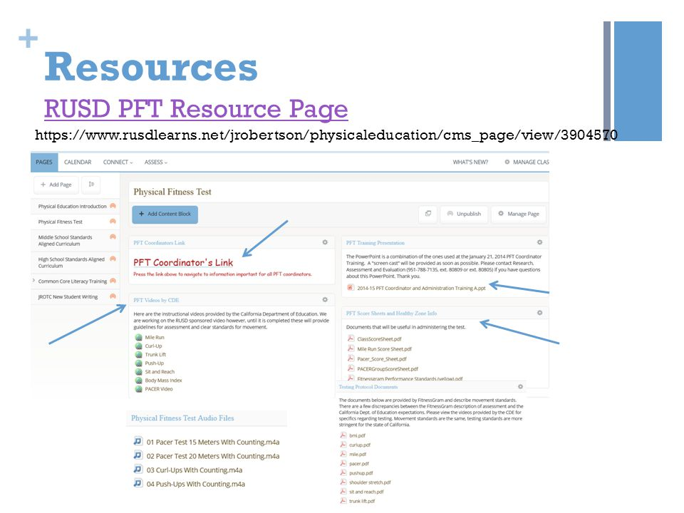 Resources RUSD PFT Resource Page