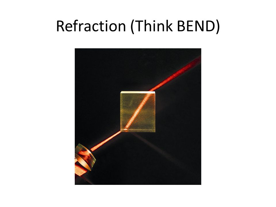 Refraction (Think BEND)