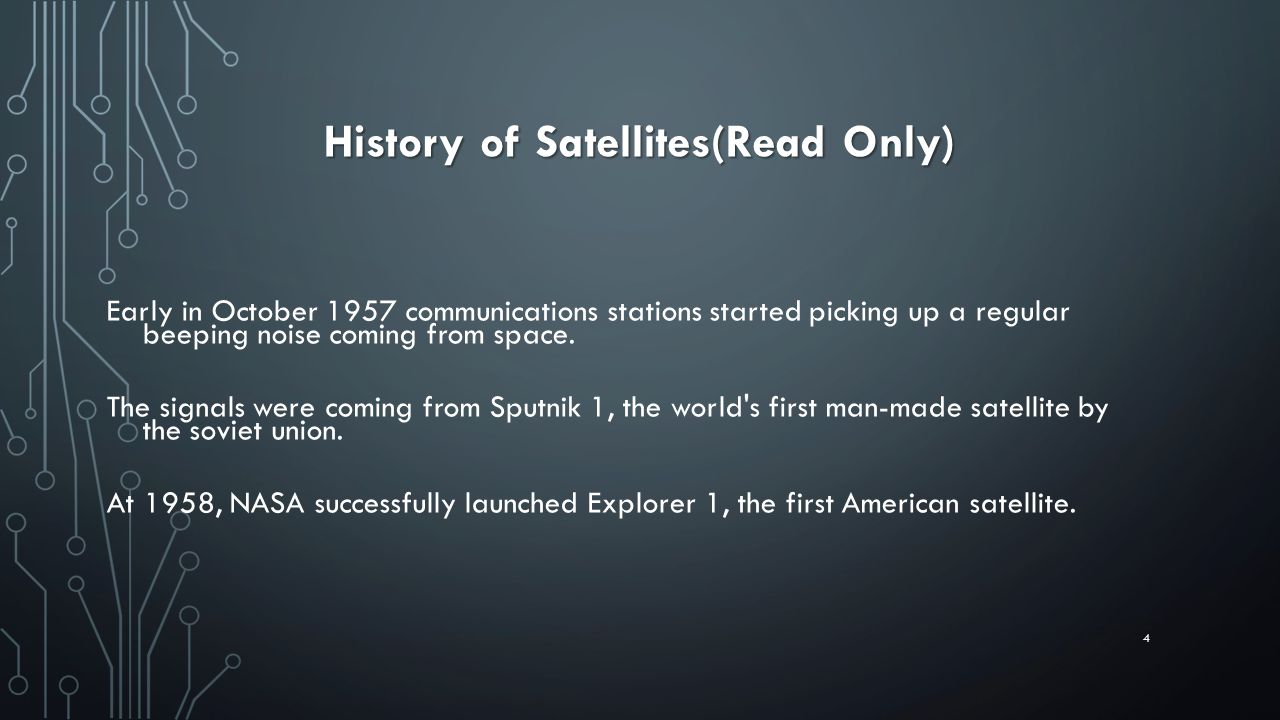 History of Satellites(Read Only)