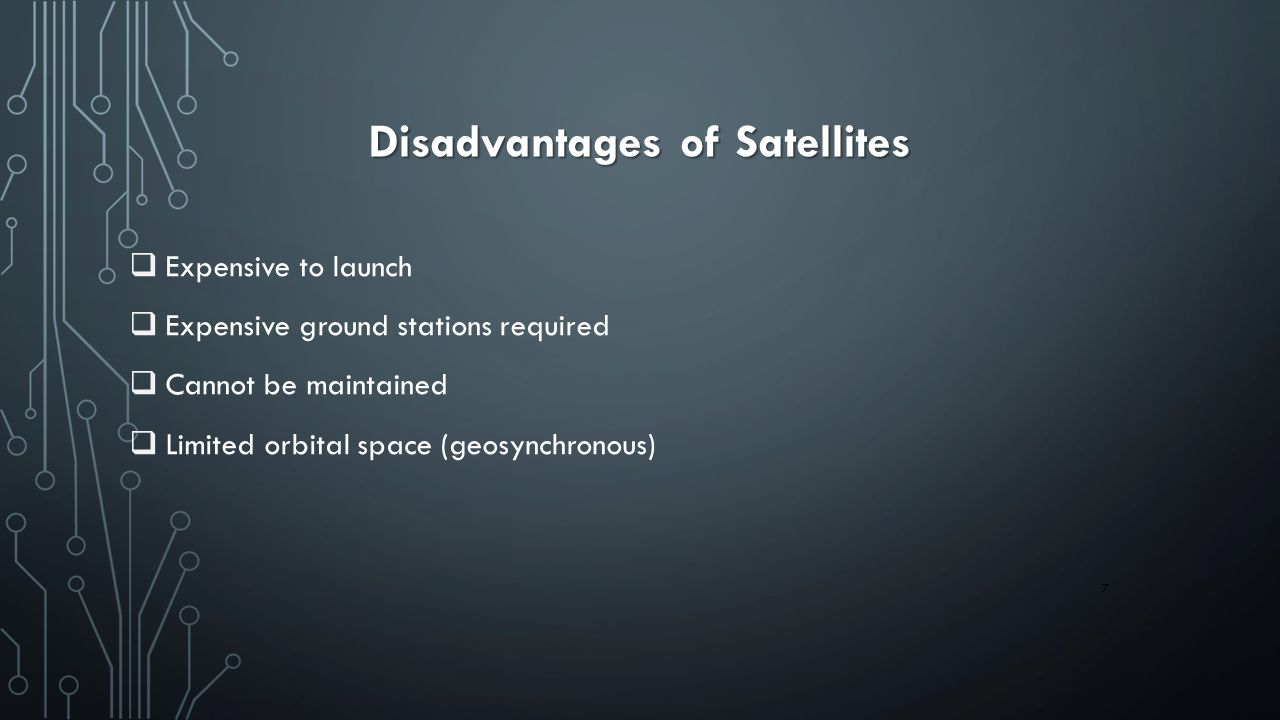 Disadvantages of Satellites
