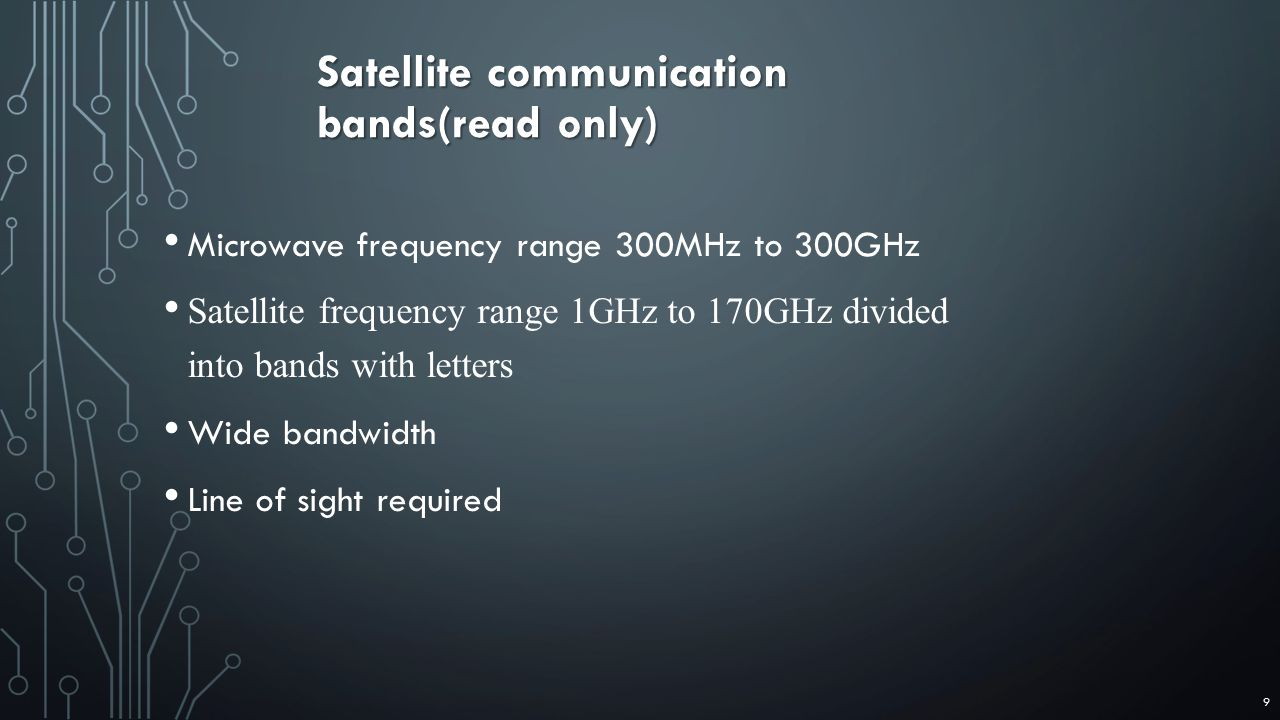 Satellite communication bands(read only)