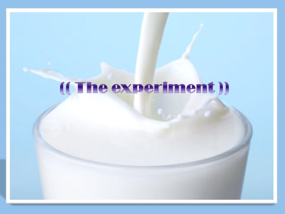 (( The experiment ))