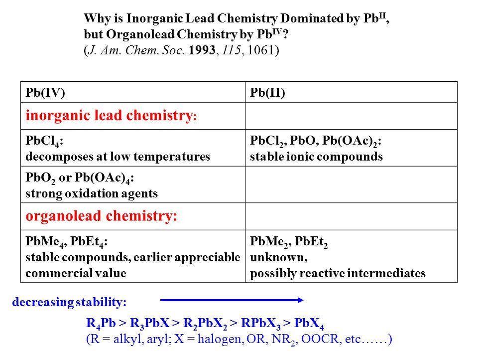 inorganic lead chemistry: