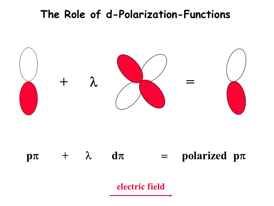 + l = pp + l dp = polarized pp The Role of d-Polarization-Functions