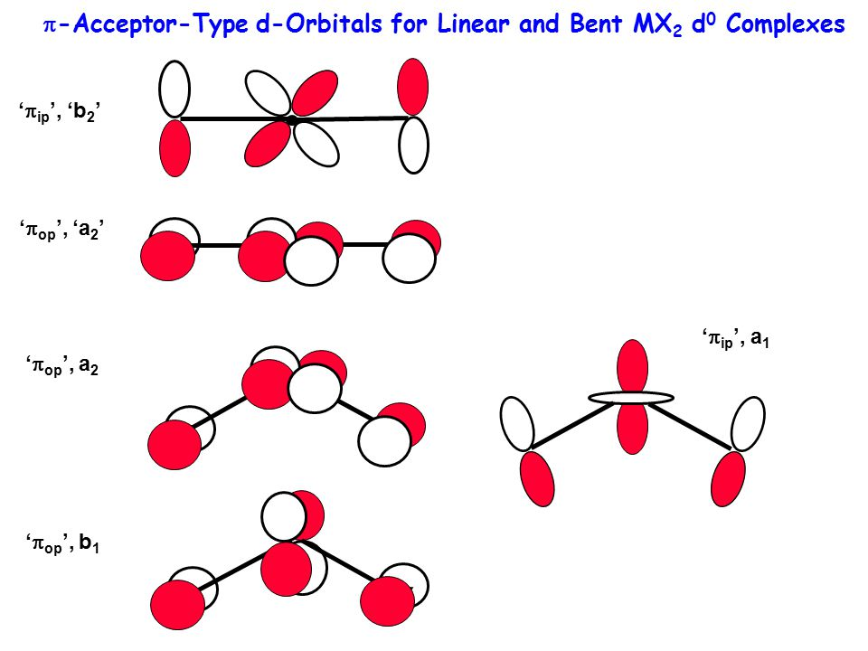 p-Acceptor-Type d-Orbitals for Linear and Bent MX2 d0 Complexes