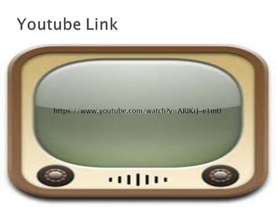 Youtube Link https://www.youtube.com/watch v=ARIKrJ-e1mU