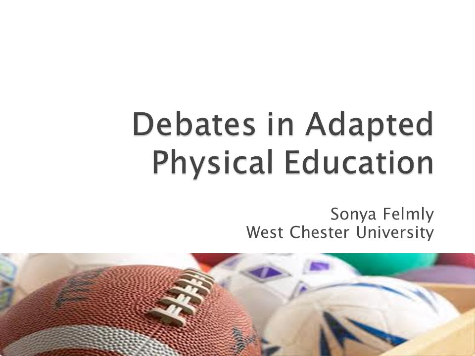 Debates in Adapted Physical Education