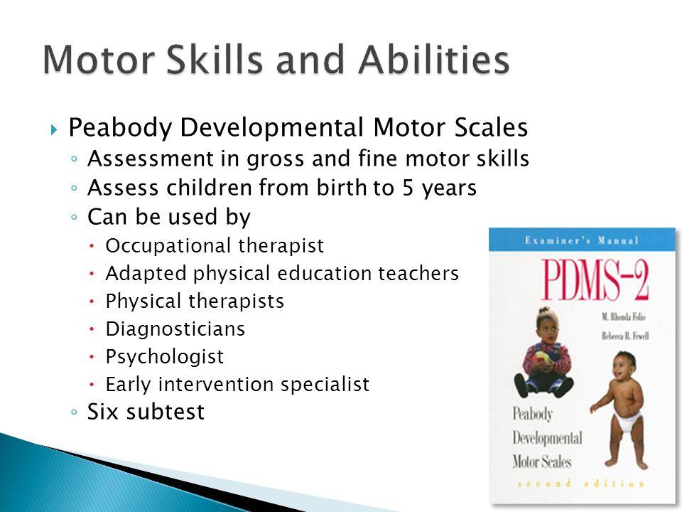 Youtube link for Fine motor skills assessment checklist