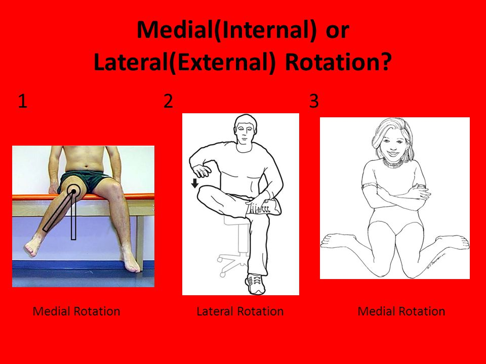 Medial(Internal) or Lateral(External) Rotation