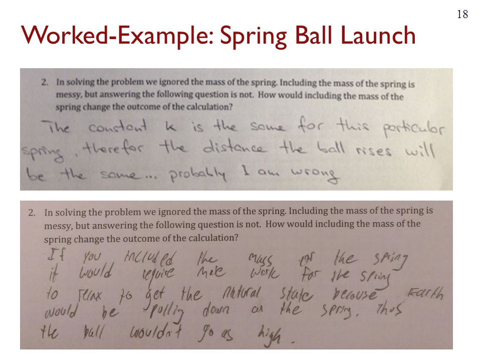 Worked-Example: Spring Ball Launch