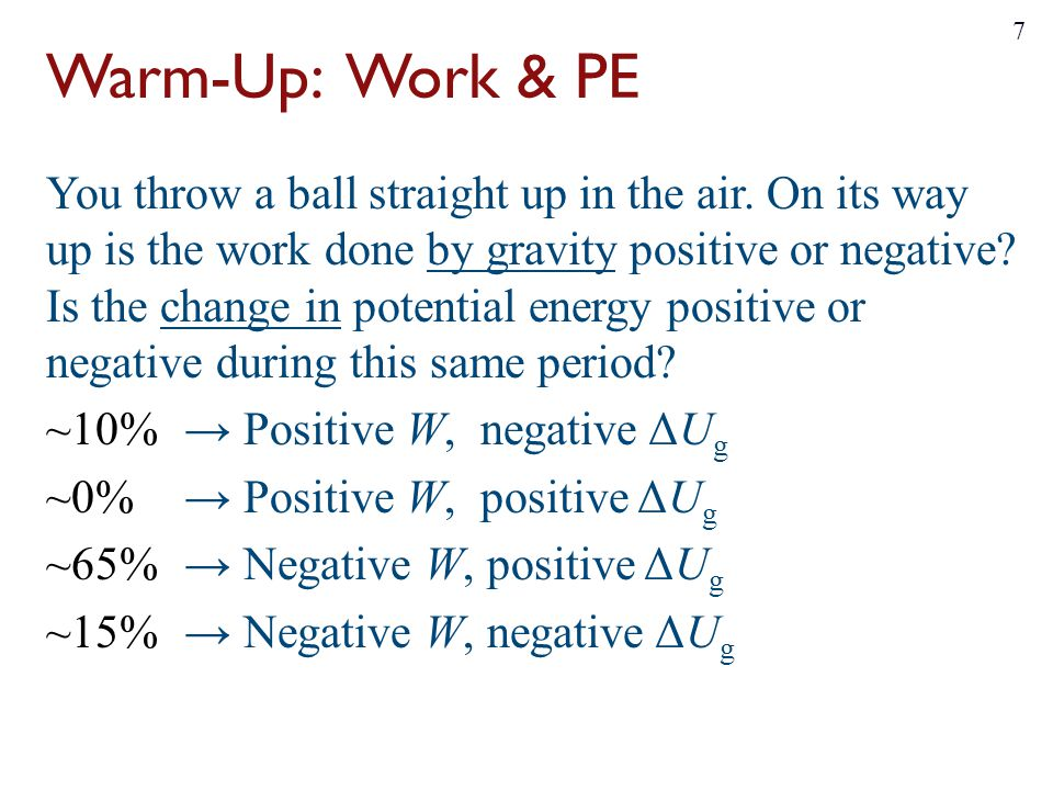Warm-Up: Work & PE