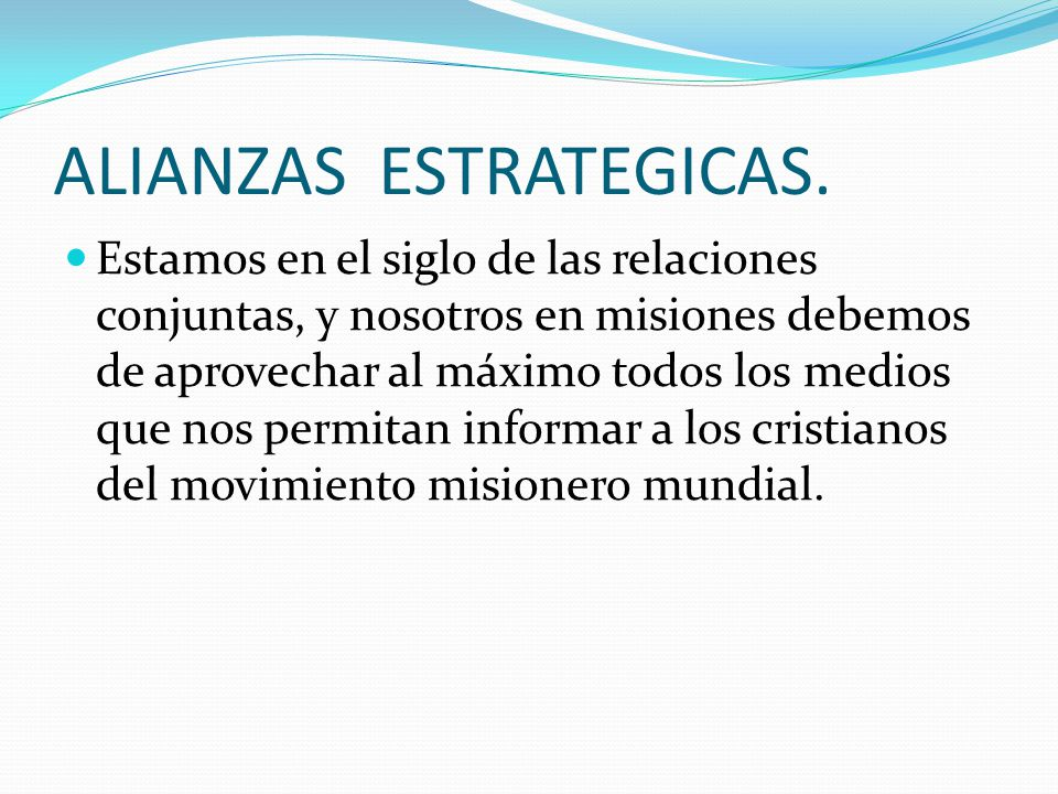 ALIANZAS ESTRATEGICAS.