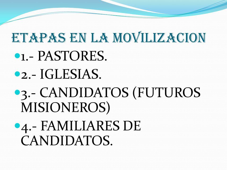 ETAPAS EN LA MOVILIZACION