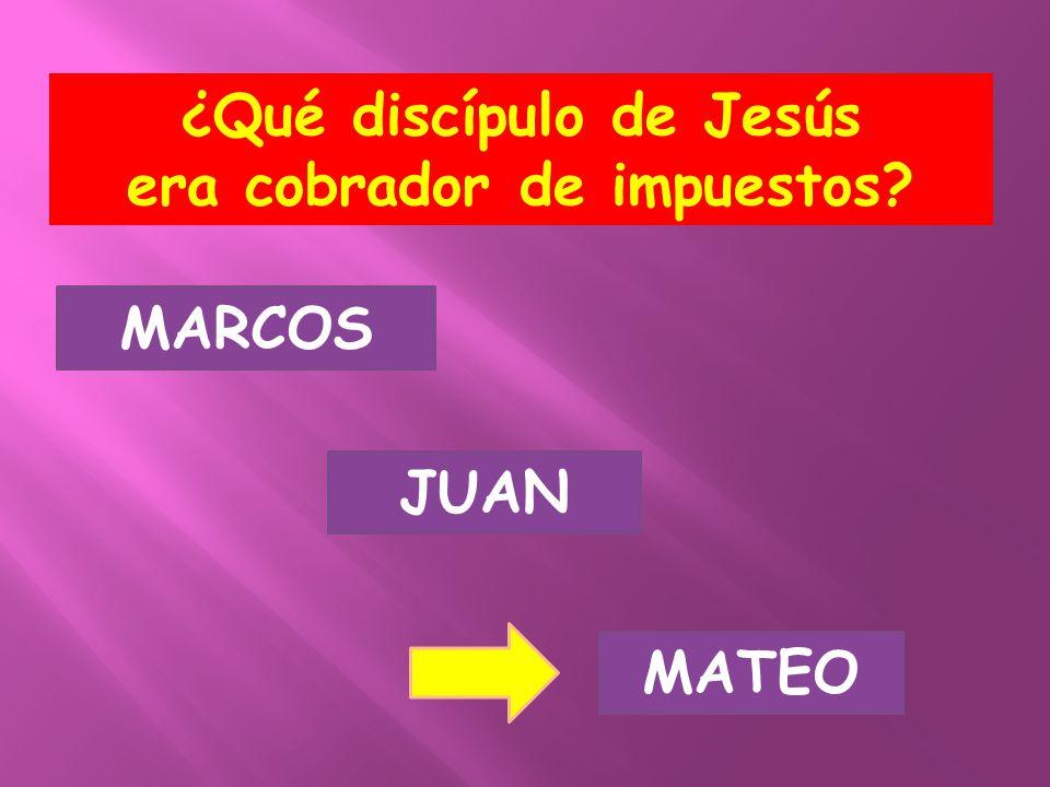 ¿Qué discípulo de Jesús era cobrador de impuestos