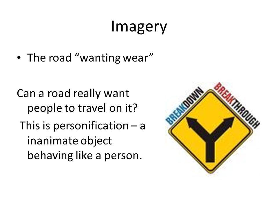 Imagery The road wanting wear