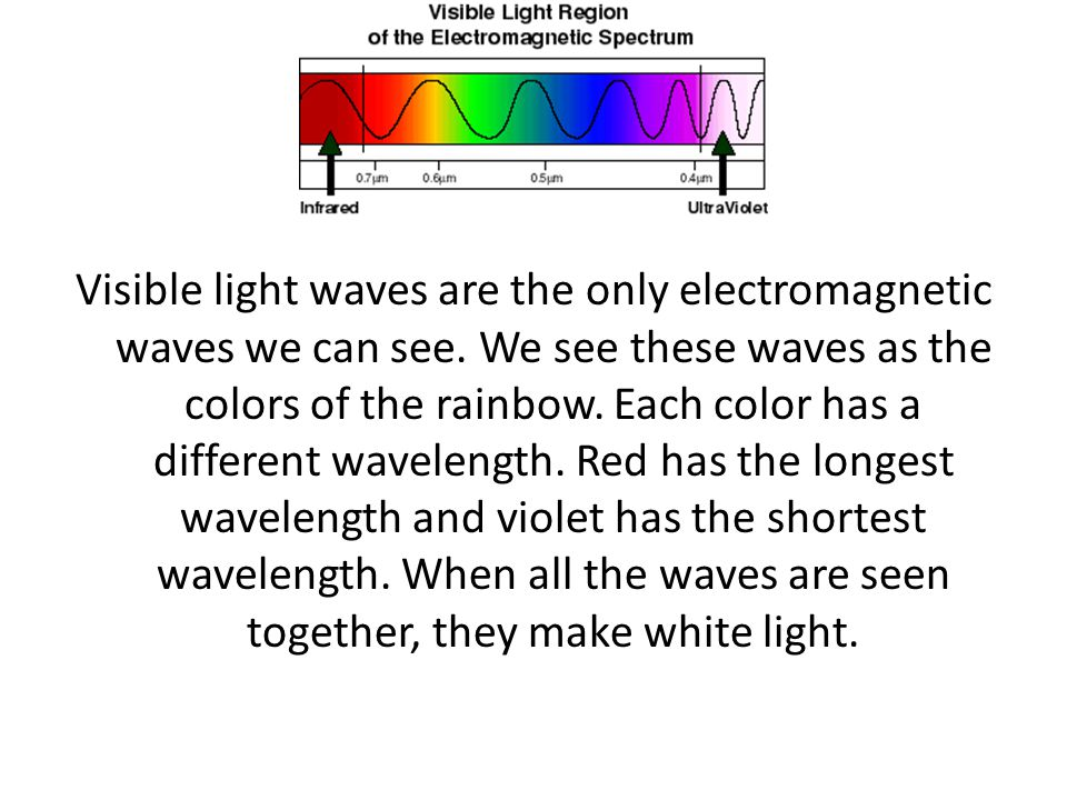 Visible light waves are the only electromagnetic waves we can see