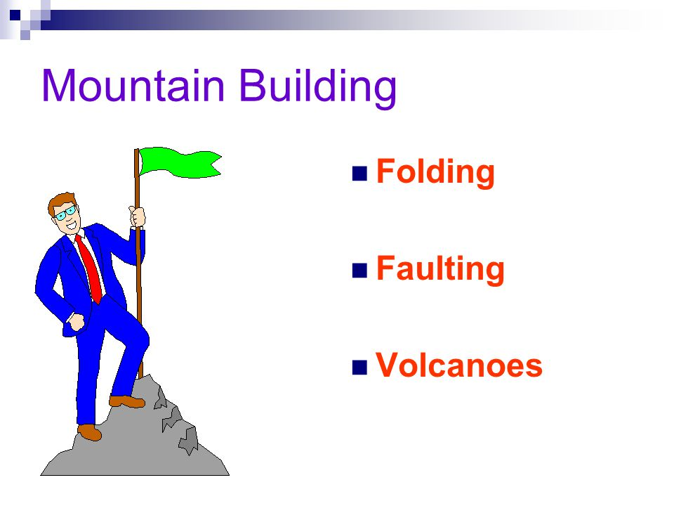 Mountain Building Folding Faulting Volcanoes