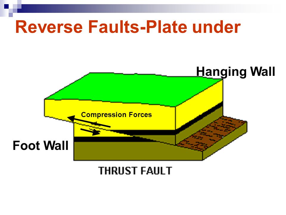 Reverse Faults-Plate under