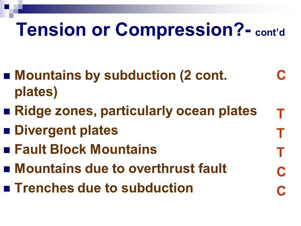 Tension or Compression - cont'd