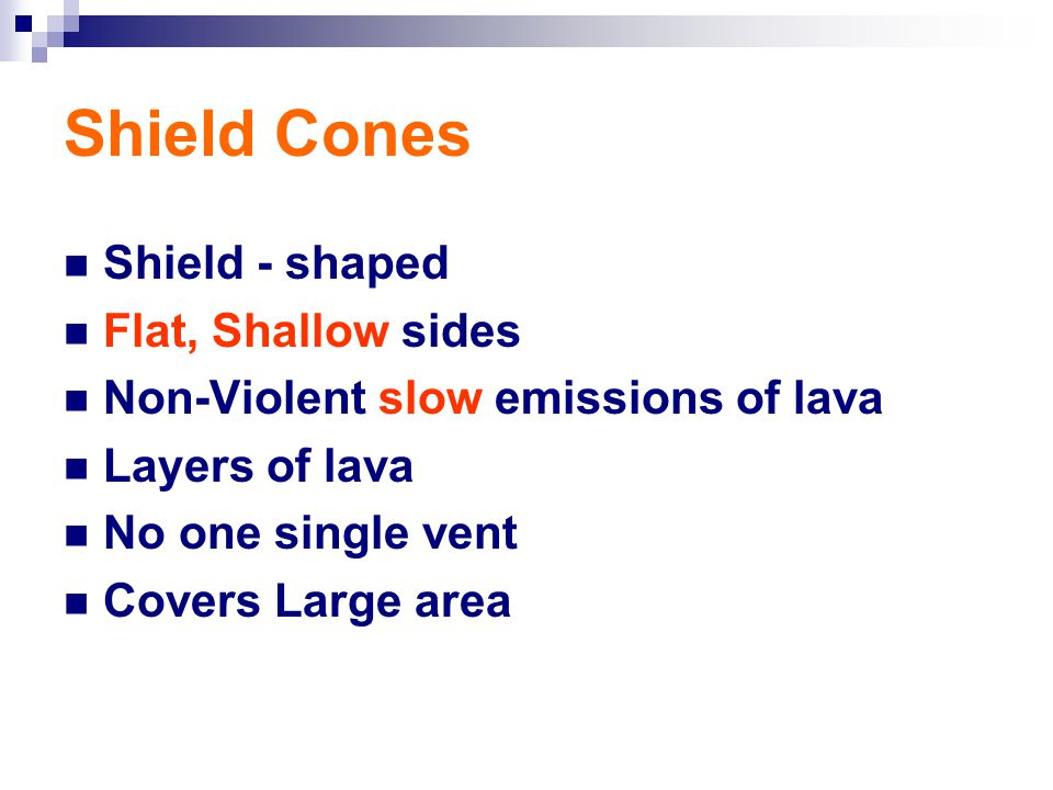 Shield Cones Shield - shaped Flat, Shallow sides
