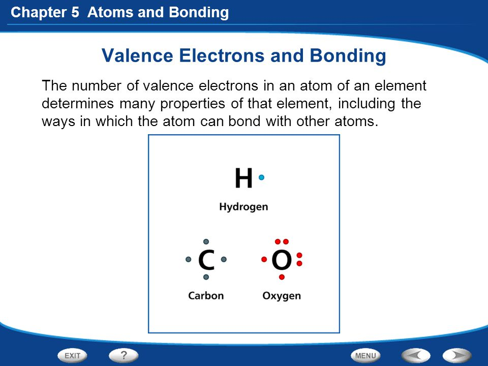 Valence Electrons and Bonding
