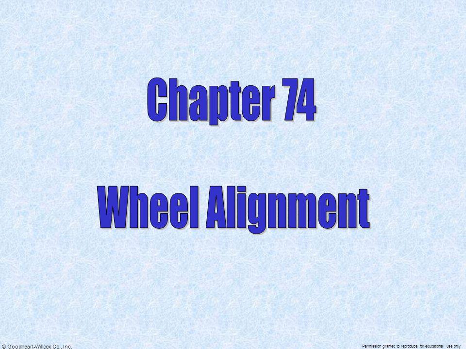 Chapter 74 Wheel Alignment