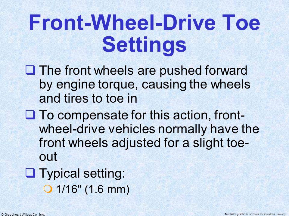 Front-Wheel-Drive Toe Settings