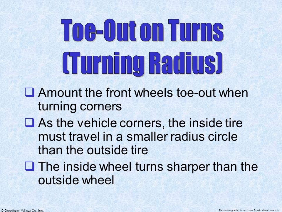 Toe-Out on Turns (Turning Radius)