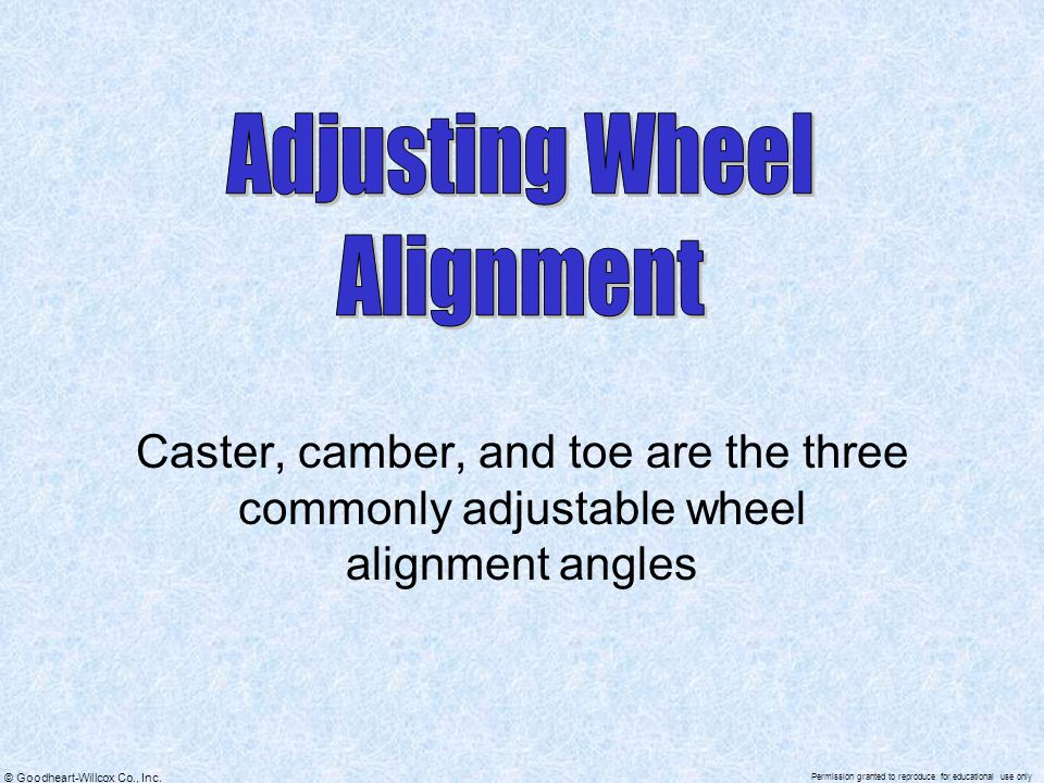 Adjusting Wheel Alignment