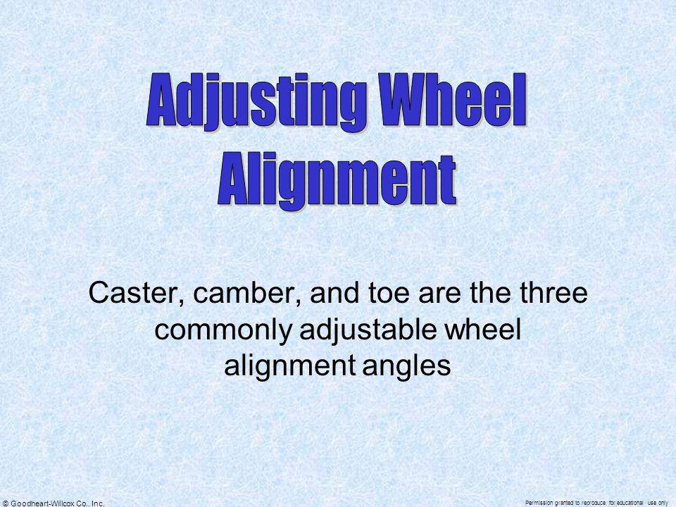 Adjusting Wheel Alignment