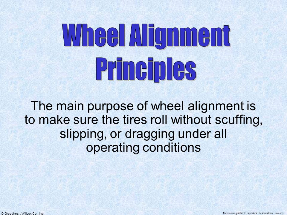 Wheel Alignment Principles